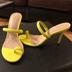 Neon lime heels - size 8
